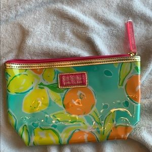 Lilly Pulitzer Lemon Orange Cosmetic Travel Bag